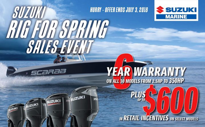 Suzuki Marine Rig for Spring Sales Event
