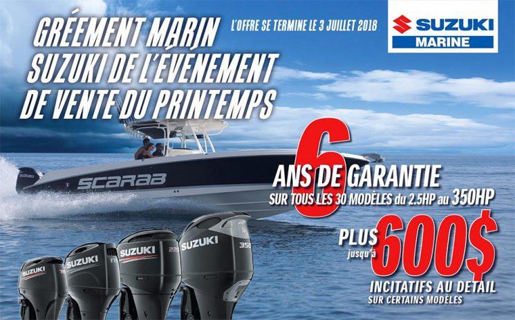 Gréement marin Suzuki de l'Événement de vente du printemps