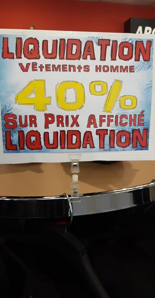 Liquidation 40% vêtements d'hiver!
